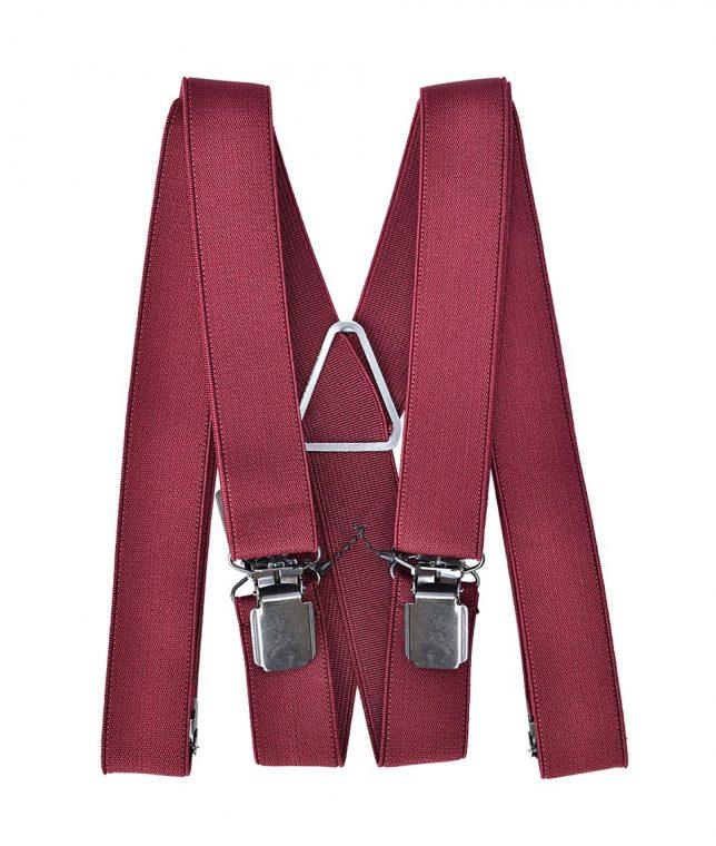 Plain Burgundy Braces Suspenders