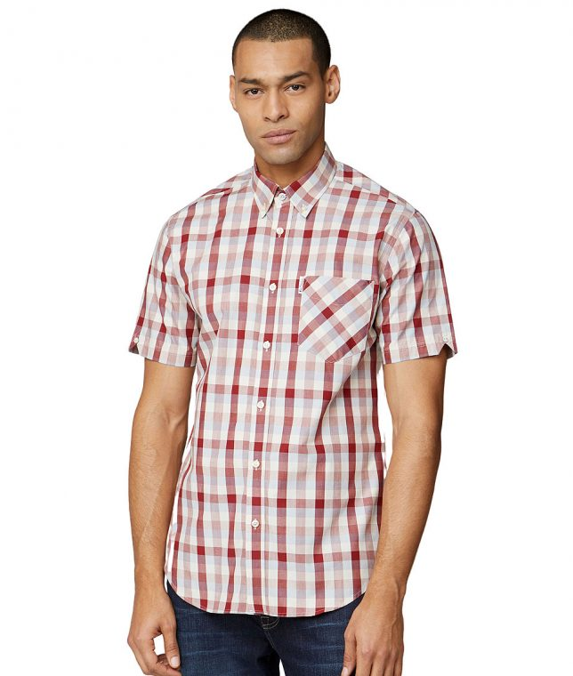 Ben Sherman Red Large Gingham Shirt