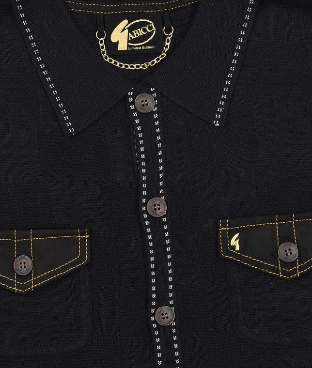 Gabicci Vintage Black Buckler Ltd Edition Polo Shirt