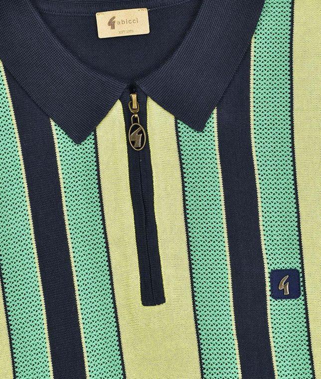 Gabicci Vintage Navy Colt Stripe Polo Shirt