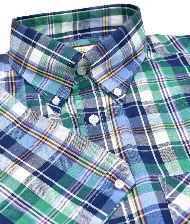 Real Hoxton Green 5191 Check Shirt