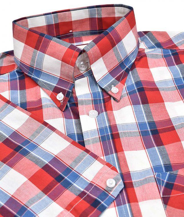 Real Hoxton Red 5195 Check Shirt