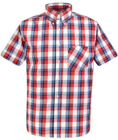 Real Hoxton Red 5195 Check Shirt