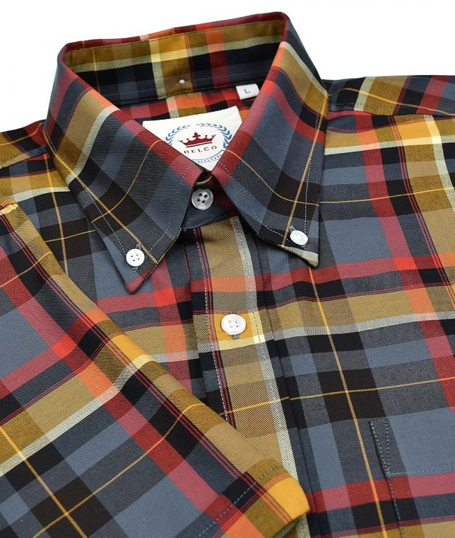 Relco Grey CK46 Check Shirt
