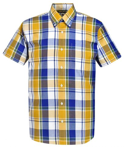 Relco Yellow CK43 Check Shirt
