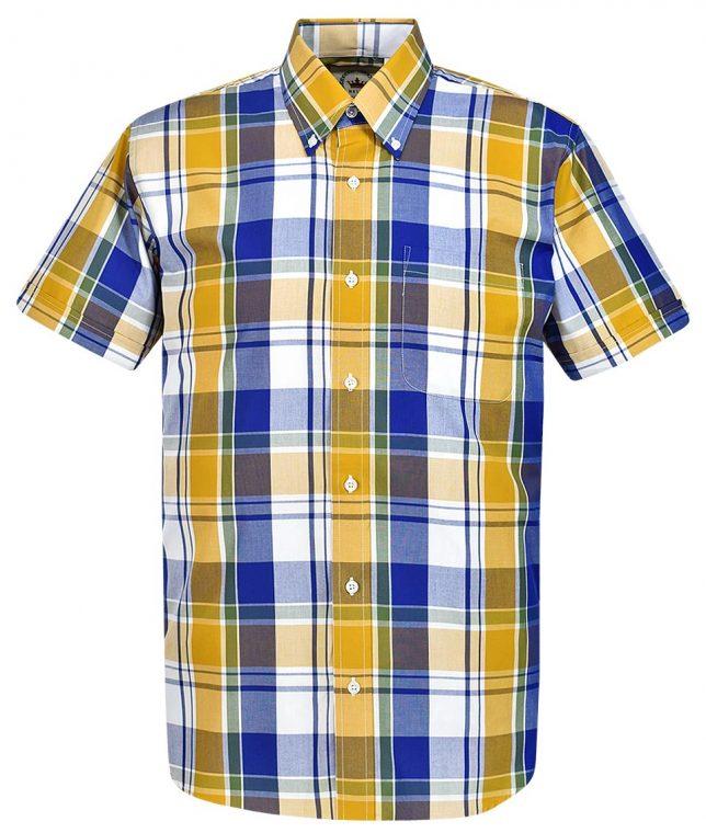 Relco Yellow CK43 Check Shirt