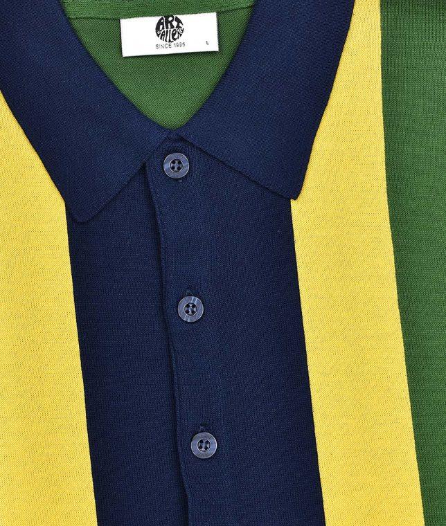 Art Gallery Isle Green Marley Knit Polo Shirt