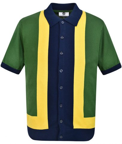 Art Gallery Isle Green Marley Knit Polo Shirt