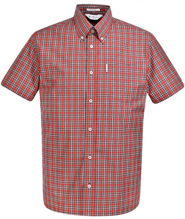 Ben Sherman Red Archive Harrison Check Shirt