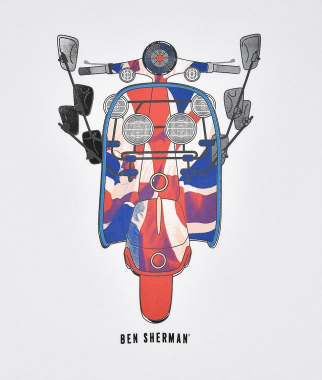Ben Sherman White Scooter Print T-Shirt