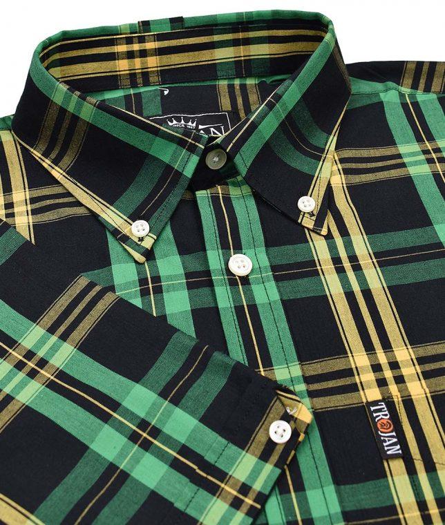 Trojan Records Black Jamaica Check Shirt