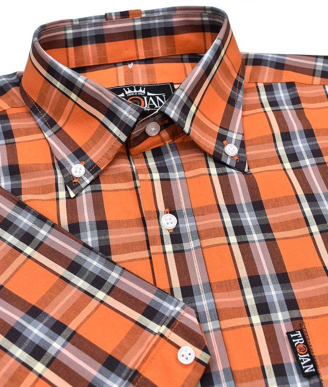 Trojan Records Orange Check Shirt