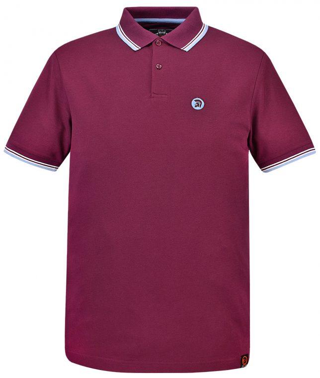 Trojan Records Port Signature Tipped Polo Shirt