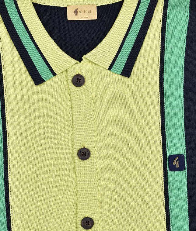Gabicci Vintage Navy Davison Stripe Panel Cardigan