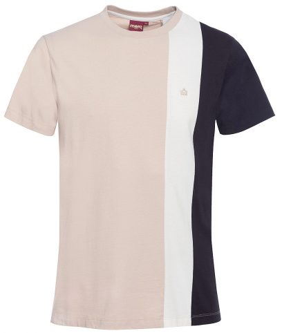 Merc Stone Naples Stripe Panel T-Shirt