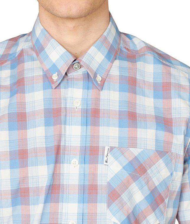 Ben Sherman Blue Large Gradient Check Shirt