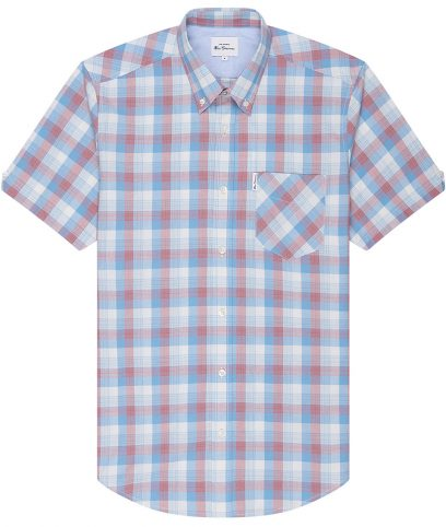 Ben Sherman Blue Large Gradient Check Shirt