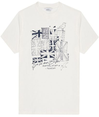 Ben Sherman Ivory Brighton Flag T-Shirt