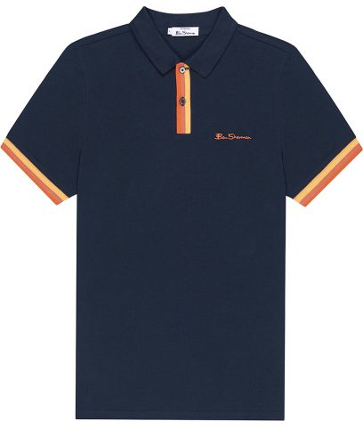 Ben Sherman Midnight Stripe Placket Polo Shirt