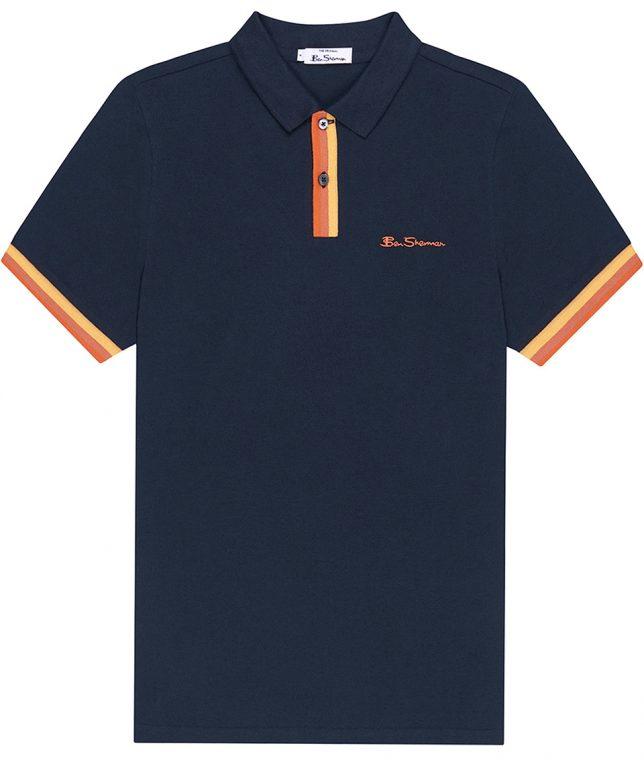 Ben Sherman Midnight Stripe Placket Polo Shirt