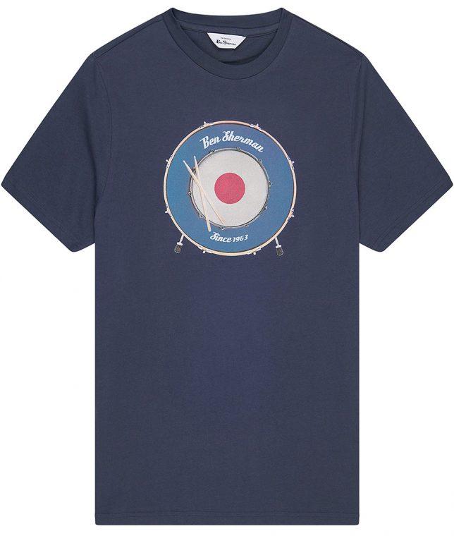 Ben Sherman Navy Drum Target T-Shirt