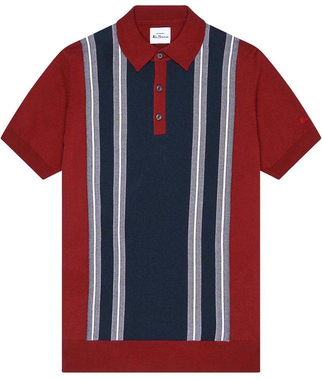 Ben Sherman Red Stripe Panel Polo Shirt