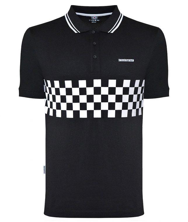 Lambretta Black Two Toned Tipped Polo Shirt