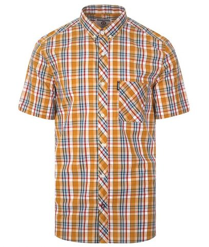 Lambretta Mustard Check Shirt