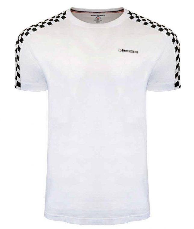 Lambretta White Taped Two Toned T-Shirt