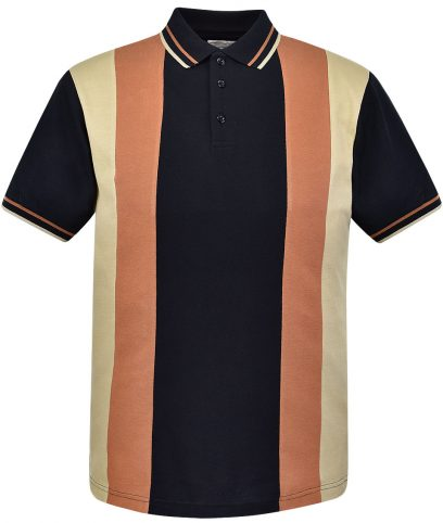 Ska & Soul Black Stripe Panel Polo Shirt