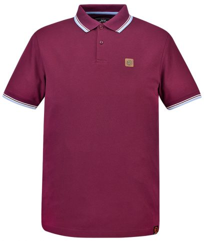 Trojan Records Port Badged Tipped Polo Shirt