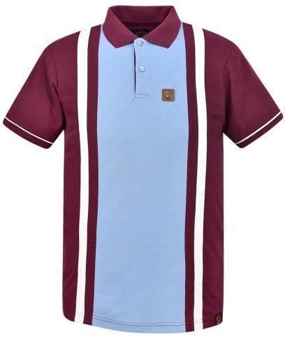 Trojan Records Port Stripe Panel Polo Shirt