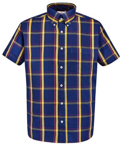 Real Hoxton Purple 5273 Check Shirt
