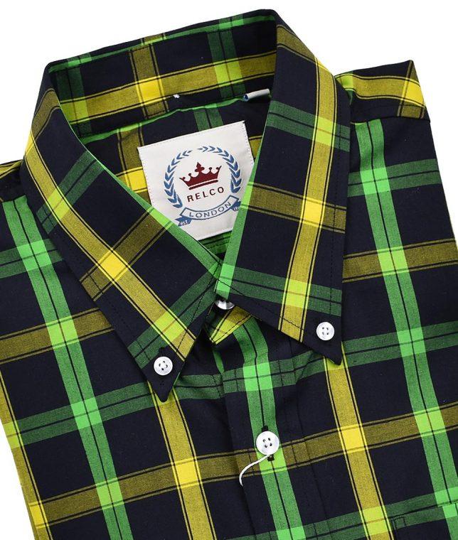 Relco Black Jamaica CK48 Check Shirt