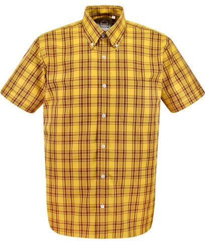 Relco Mustard CK47 Check Shirt