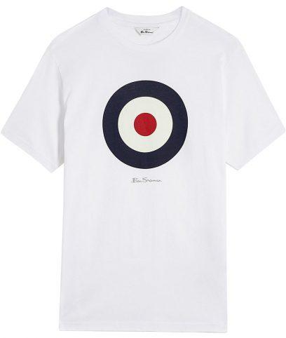 Ben Sherman White Mod Target T-Shirt
