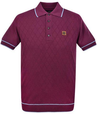 Trojan Records Port Diamond Panel Polo Shirt