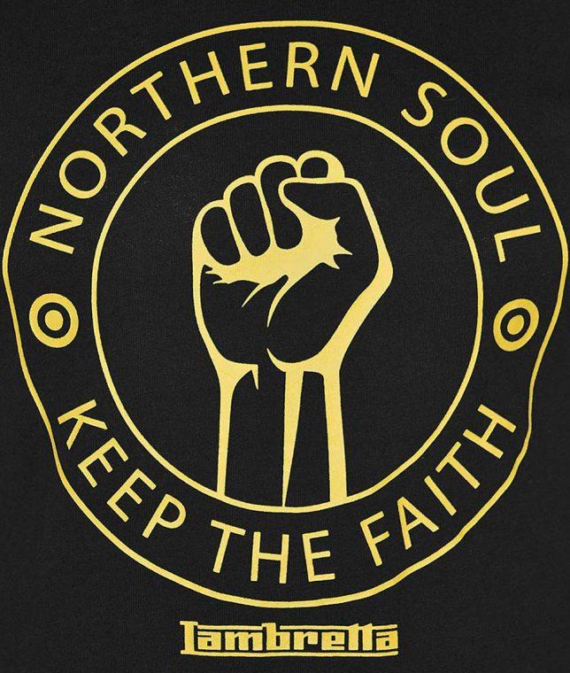 Lambretta Black Northern Soul T-Shirt