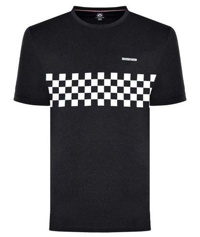 Lambretta Black Two Toned Panel T-Shirt