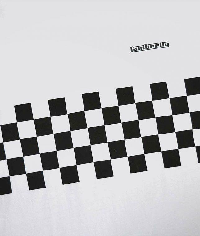 Lambretta White Two Toned Panel T-Shirt